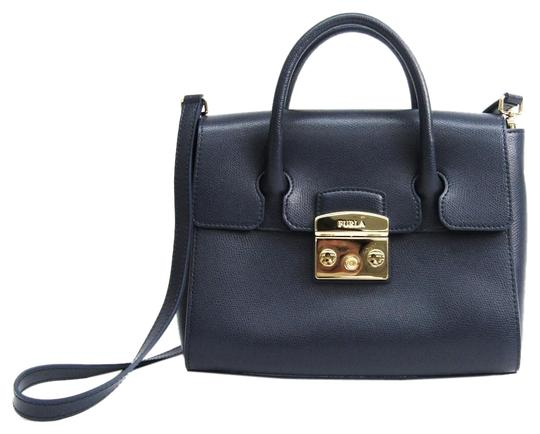 Preload https://img-static.tradesy.com/item/25873388/furla-metropolis-women-s-handbag-navy-leather-satchel-0-1-540-540.jpg