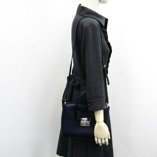 Furla Satchel in Navy Image 8