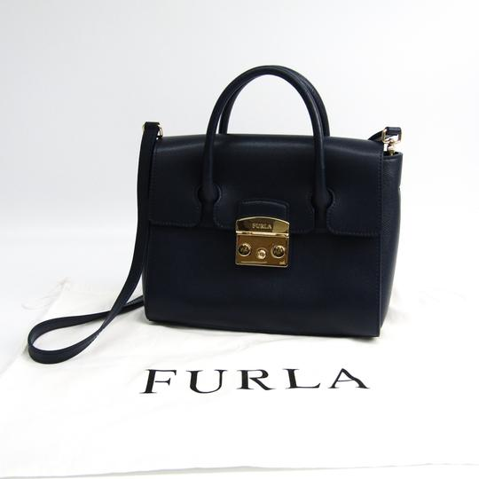 Furla Satchel in Navy Image 9