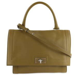 Givenchy Olive Leather Shark Satchel in Green