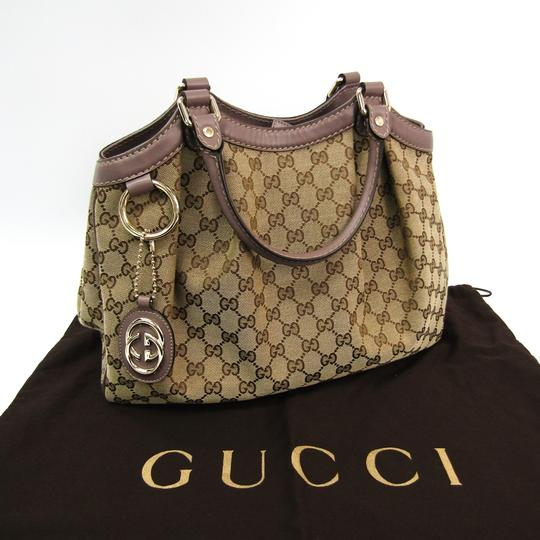 Gucci Satchel in Beige Image 11