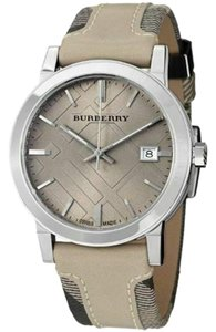 Burberry New Burberry BU9021 Nova Check Wrist Watch Cream Multi Leather