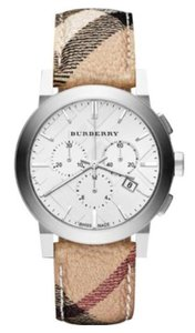 Burberry New Burberry The City Haymarket Check Fabric Men's Watch BU9360