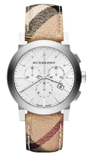 Preload https://img-static.tradesy.com/item/25873854/burberry-beige-silver-new-the-city-haymarket-check-fabric-men-s-bu9360-watch-0-0-540-540.jpg