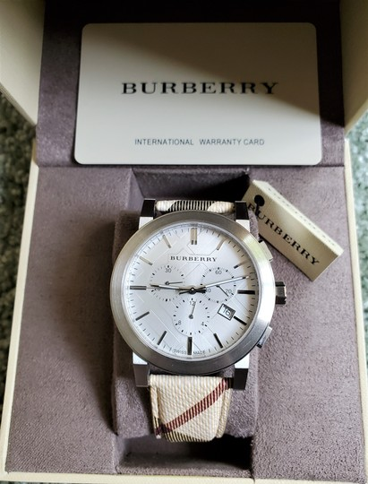 Burberry New Burberry The City Haymarket Check Fabric Men's Watch BU9360 Image 1