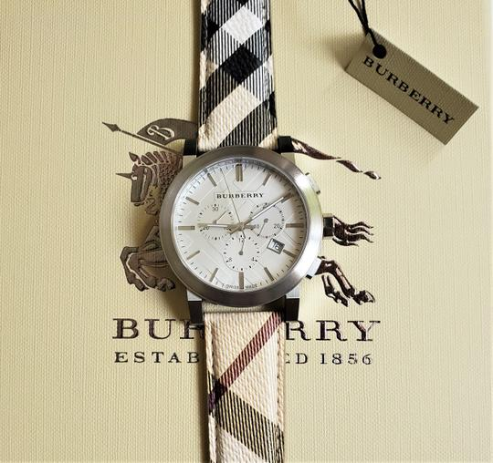 Burberry New Burberry The City Haymarket Check Fabric Men's Watch BU9360 Image 4