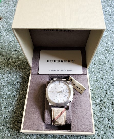 Burberry New Burberry The City Haymarket Check Fabric Men's Watch BU9360 Image 8