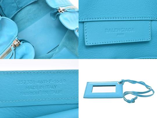 Balenciaga Satchel in Blue Image 8