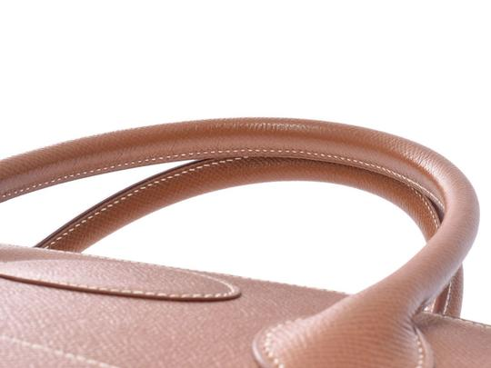 Hermès Gold Courchevel Leather Bolide 37 Satchel in Black Image 3