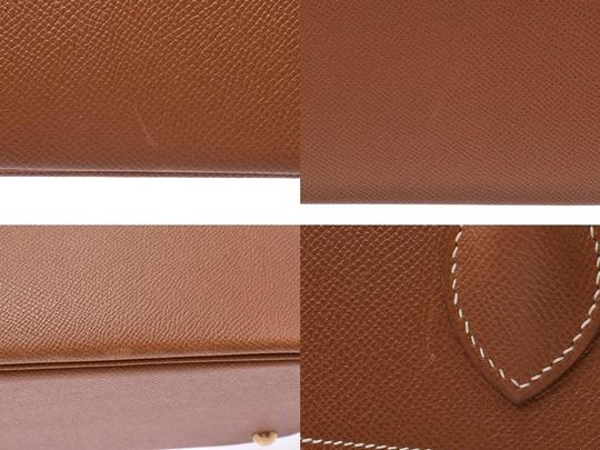 Hermès Gold Courchevel Leather Bolide 37 Satchel in Black Image 5