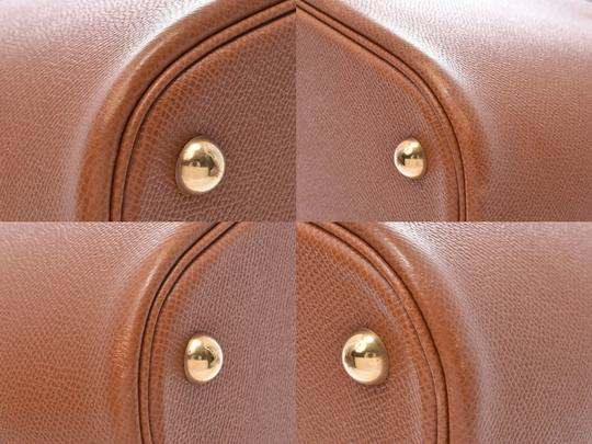 Hermès Gold Courchevel Leather Bolide 37 Satchel in Black Image 6