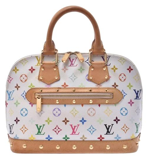 68ab60140dc Louis Vuitton Alma M92647 Ladies Genuine Leather Handbag Blanc / Monogram /  Monogram / Multi-color / White Satchel
