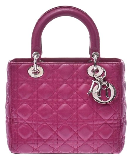 Preload https://img-static.tradesy.com/item/25874516/fuschia-lambskin-leather-lady-dior-satchel-0-1-540-540.jpg
