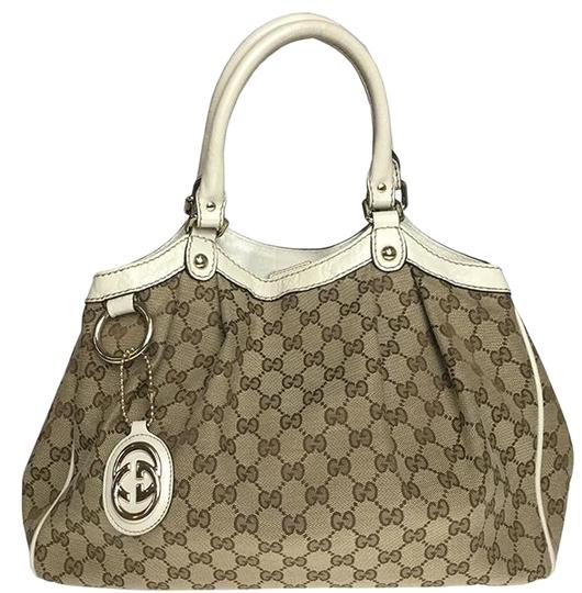 Preload https://img-static.tradesy.com/item/25874528/gucci-sukey-211944-handbag-beige-gg-canvas-leather-satchel-0-1-540-540.jpg