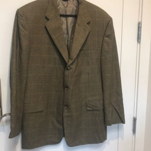Hickey Freeman Green Brown Blazer
