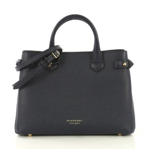 Burberry Canvas Banner Satchel in blue