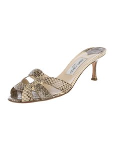 Jimmy Choo Python Slides Sandals BEIGE, BLACK Mules