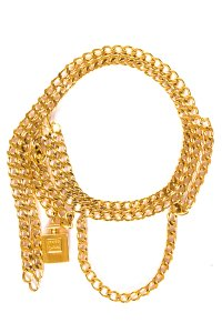 Chanel CHANEL Gold-Tone Chain Link Belt