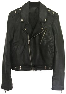 BLK DNM Y2k Motorcycle Christmas Gift #1 Black Leather Jacket