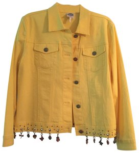 Diane Gilman yellow Womens Jean Jacket