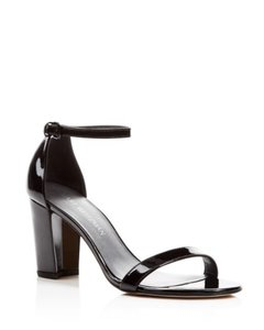 Stuart Weitzman Leather black patent Pumps