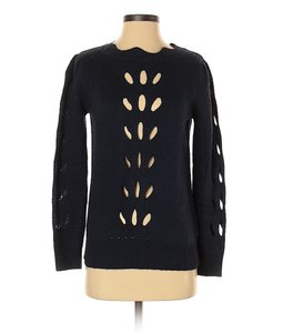 0 Degrees Scalloped Cut-out Sweater