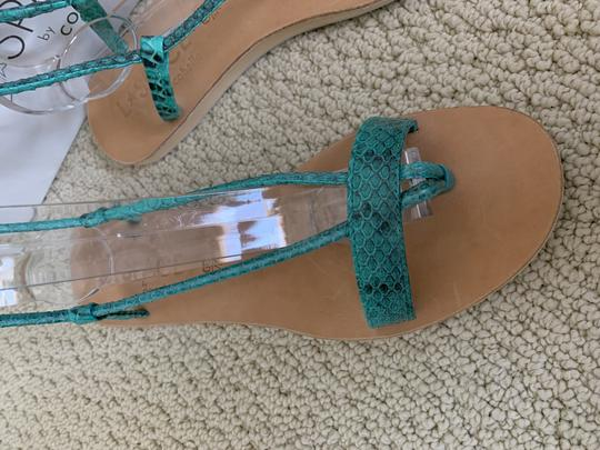 Cocobelle Lspace Leather Ankle Strap Green Sandals Image 10