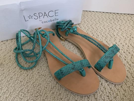 Cocobelle Lspace Leather Ankle Strap Green Sandals Image 3