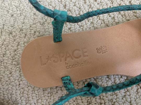 Cocobelle Lspace Leather Ankle Strap Green Sandals Image 5