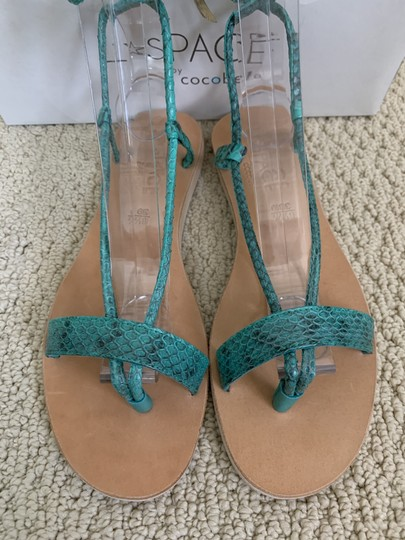 Cocobelle Lspace Leather Ankle Strap Green Sandals Image 7