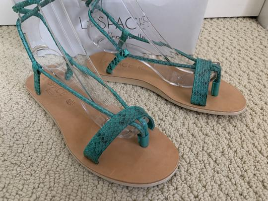 Cocobelle Lspace Leather Ankle Strap Green Sandals Image 8