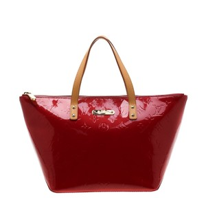 Louis Vuitton Patent Leather Monogram Tote in Red