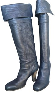 Coclico Leather Knee High blue Boots