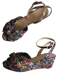 Charlotte Olympia Pink, Purple, Blue, Teal, Green, Yellow Wedges
