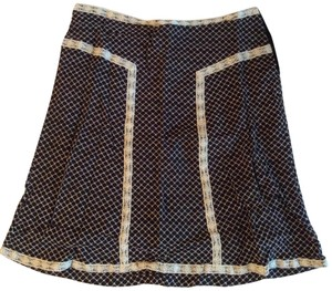 Carole Little Lace Trim And Skirt Black/white