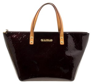 Louis Vuitton Patent Leather Monogram Tote in Burgundy