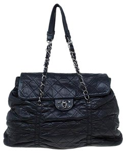 Chanel Classic Flap Diamond Quilted Diamond Shopping Tote Sharpei Shoulder Bag