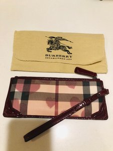 Burberry burgundy Clutch