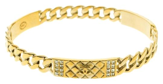 Preload https://img-static.tradesy.com/item/25876387/chanel-gold-cc-crystal-textured-chain-link-tone-bangle-bracelet-0-1-540-540.jpg