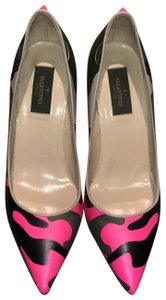 Valentino green and neon pink Pumps