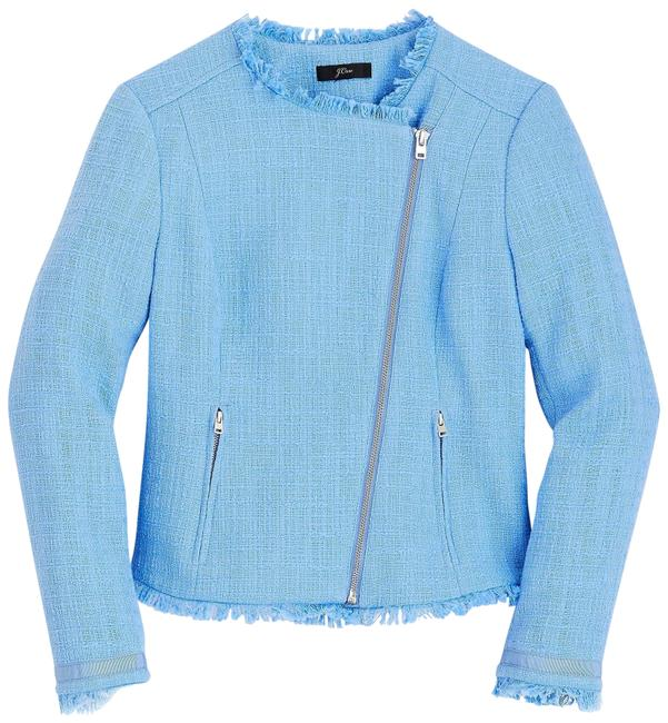 Item - Blue Nwt. Tweed with Fringe Jacket Size 10 (M)