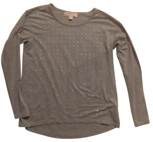 Item - Gray with Silver Long Sleeve Tee Tunic Size 2 (XS)