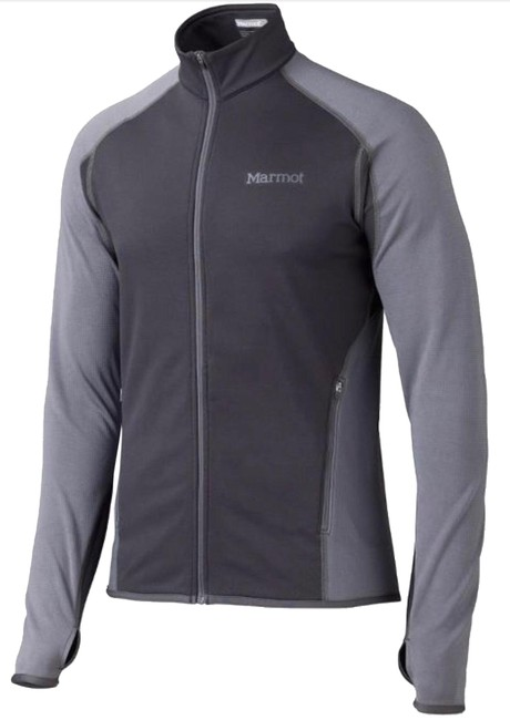 Marmot Black Gray *new* Caldus Fleece Jacket Activewear Size 4 (S) Marmot Black Gray *new* Caldus Fleece Jacket Activewear Size 4 (S) Image 1