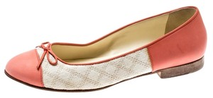 Chanel Leather Canvas Ballet Pink Flats