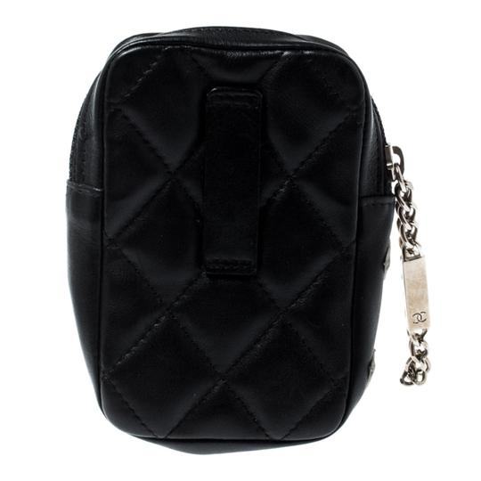 Chanel Black/White Quilted Leather Cambon Ligne Phone Case Image 1