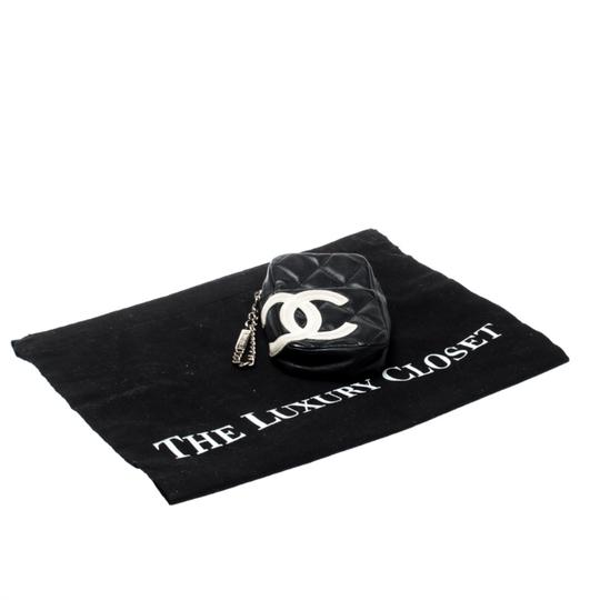 Chanel Black/White Quilted Leather Cambon Ligne Phone Case Image 10