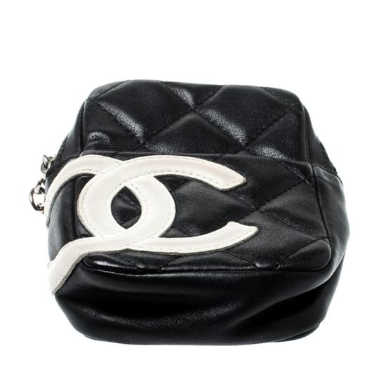 Chanel Black/White Quilted Leather Cambon Ligne Phone Case Image 3