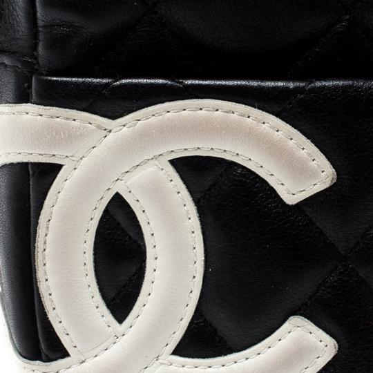 Chanel Black/White Quilted Leather Cambon Ligne Phone Case Image 7