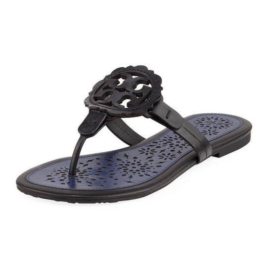 Preload https://img-static.tradesy.com/item/25877022/tory-burch-blacknavy-miller-scalloped-medallion-sandals-size-us-65-regular-m-b-0-0-540-540.jpg