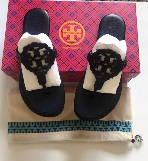 Tory Burch Black/Navy Sandals Image 5